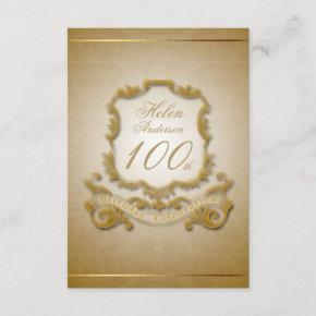 100th Birthday Celebration Custom Vintage Frame Invitation