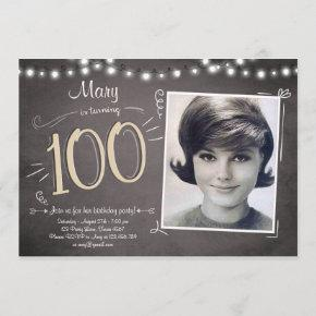 100th Birthday Invitation Vintage Hundred Birthday