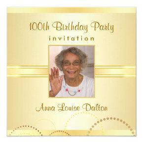 100th Birthday Party  - Photo Optional