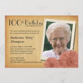 100th Birthday Vintage Daisy Photo