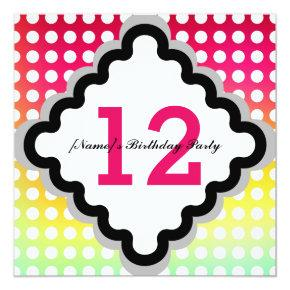 Twelve twelveth 12th birthday invitations candied clouds 12th birthday party invitation filmwisefo