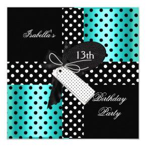 13th Birthday Party teenager girls Invitation