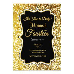 14th Birthday Invitations Candied Clouds