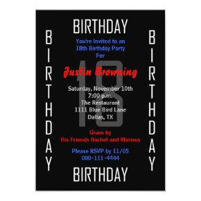 18th Birthday Party Invitation 18