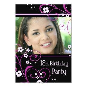 18th Birthday Party Photo Invitation