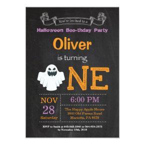 1st Birthday Halloween Party Invitation