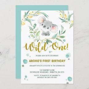 1st Birthday    Cute Koala Wild One
