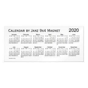2020 White Smoke Calendar by Janz 9x4 Magnet