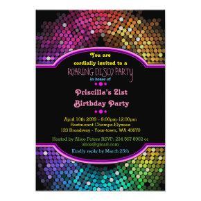 21st Birthday invitation Party, Disco Party,Gatsby