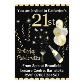 21st Birthday Party  - Black & Gold