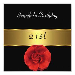red black gold birthday invitations candied clouds