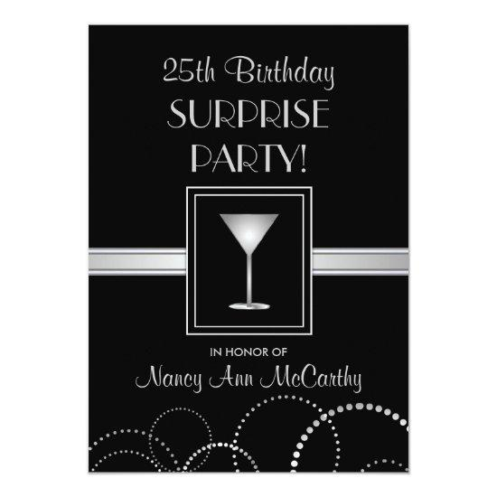 25th Birthday Surprise Party Custom