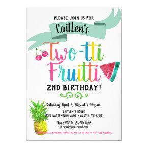 2nd Birthday Invitation Twotti Fruitti