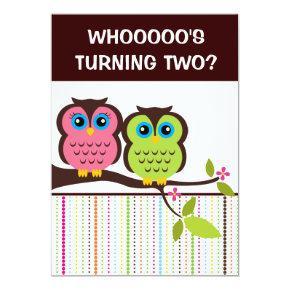 2nd Birthday Owl Theme Party