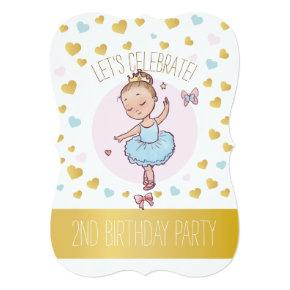 2nd Birthday Party | Princess Ballerina in Tutu Invitations