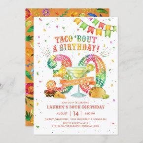 30th Birthday Fiesta Invitation