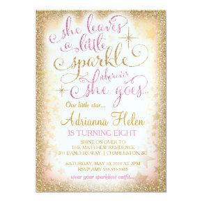 311 She Leaves a Little Sparkle Wherever She Goes Invitations
