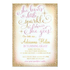 311 She Leaves a Little Sparkle Wherever She Goes Invitations