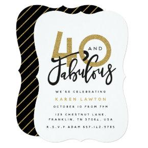 40 and fabulous birthday party invitation