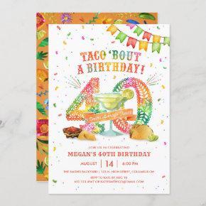 40th Birthday Fiesta Invitation