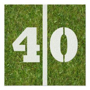 40th Birthday Football Party Invitations