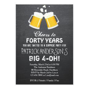 40th Birthday Invitations / Beer 40th Birthday
