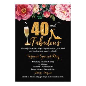 40th Birthday Invitation for Women