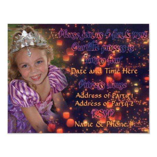 4 Year Old Princess Birthday  with Back