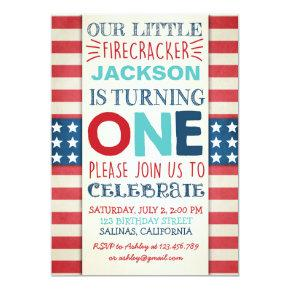 4th Of July Birthday Invitations Independence Day