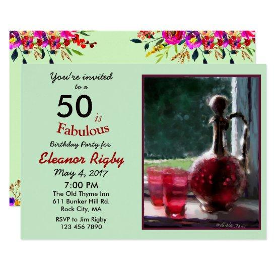 50 is fabulous 50th birthday invitation candied clouds 50 is fabulous 50th birthday invitation filmwisefo