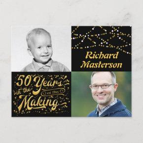 50th Birthday 50 Years in the Making (Then & Now) Invitation Post
