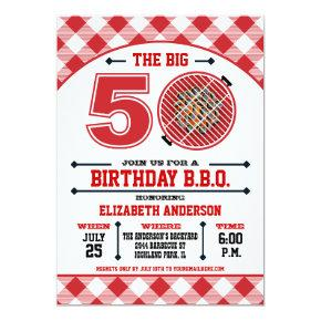 50th Birthday Barbecue Invitation