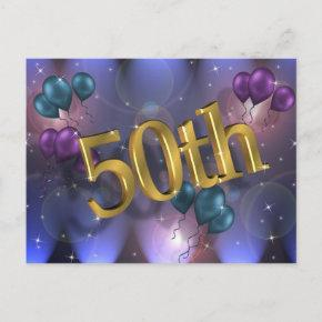50th Birthday Party Invitation Celebration