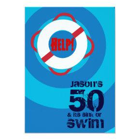 50th Birthday Pool Party Invitation