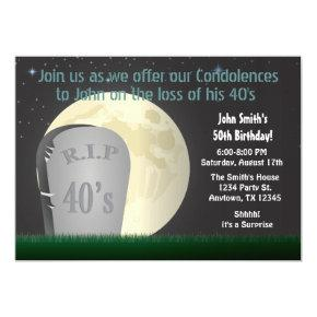 50th Birthday RIP 40s Invitations