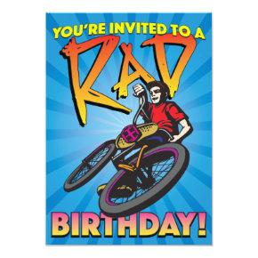 5 X 7 BMX Birthday Invitation