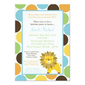 5x7 Jungle King Lion Safari Birthday Invitation