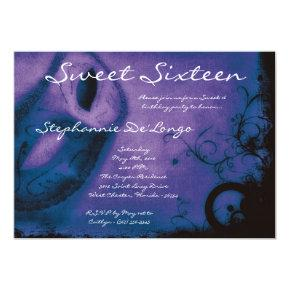 Sweet 16 Masquerade Party Birthday Invitations Candied Clouds