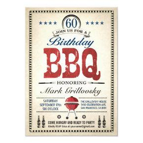 60th Birthday BBQ Invitations