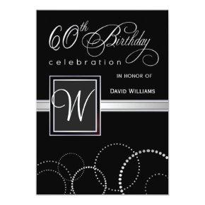 60th Birthday Party  - with Monogram