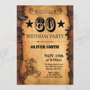 60th Western Birthday Invitation