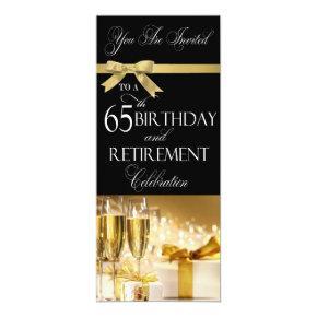 65 th Birthday Retirement Combination Invitations