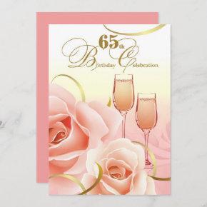 65th Birthday Celebration Custom