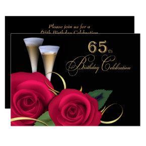 65th Birthday Celebration Custom Invitations