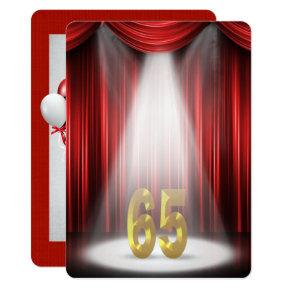 65th Birthday Party in spotlight Card