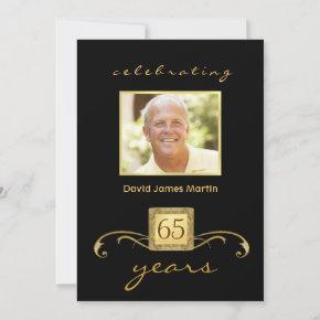 65th Birthday Party  - Formal Monogram