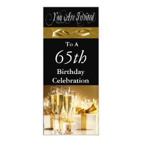 65th Birthday Party Personalized Invitations
