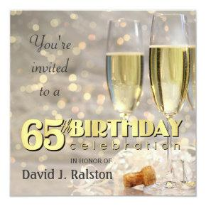65th Birthday Party - Personalized