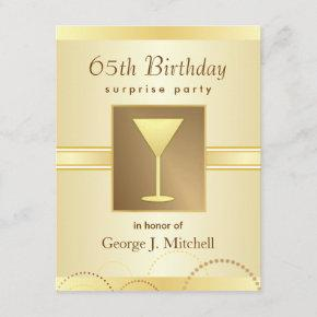 65th Birthday Surprise Party  - Gold