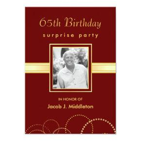 65th Birthday Surprise Party - Photo Optional Invitations